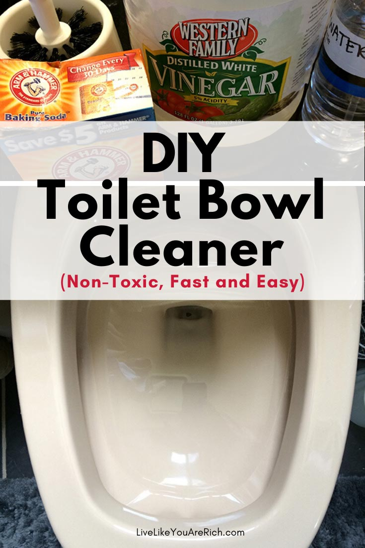 Now you can create an INEXPENSIVE nontoxic toilet bowl cleaner in 11 seconds or less as well! #toiletbowlcleaner #cleaning