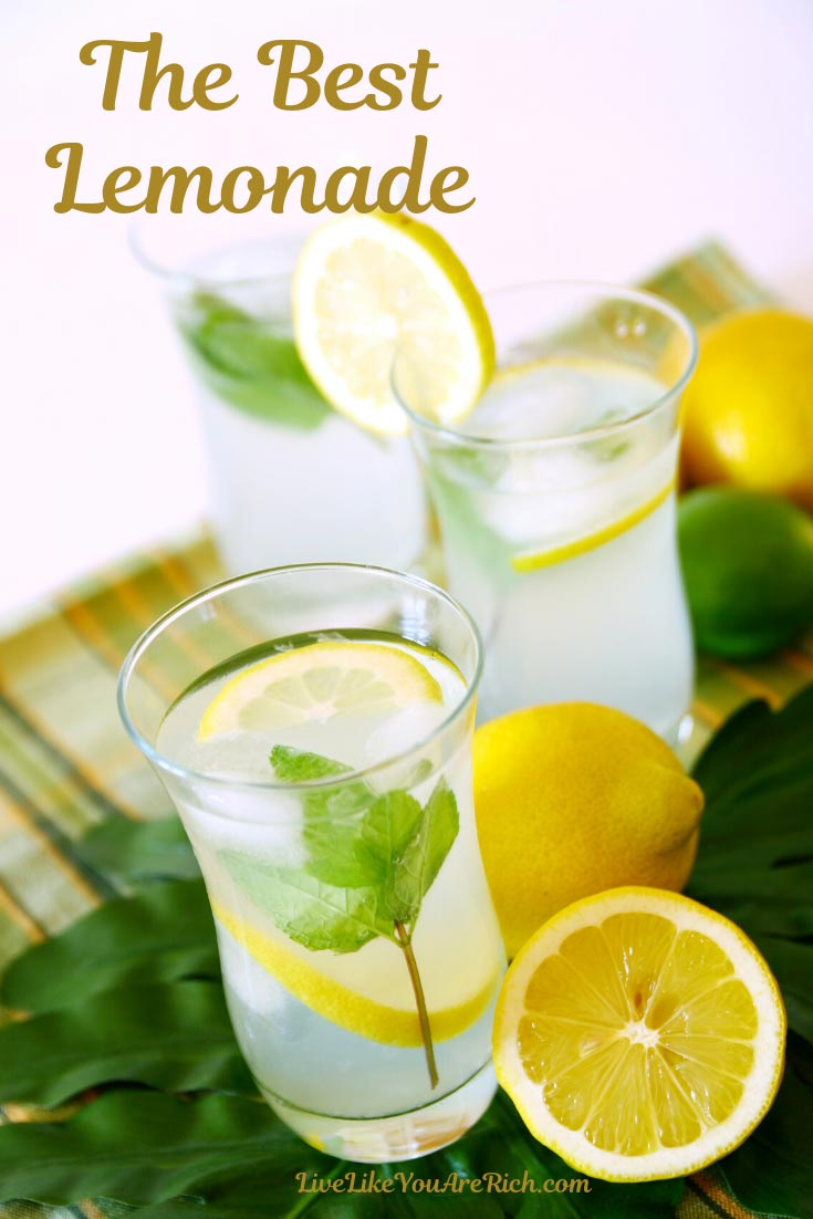 This amazing lemonade with simple syrup recipe is super easy.It is super easy to make and very delicious. #lemonade #juice #drinks