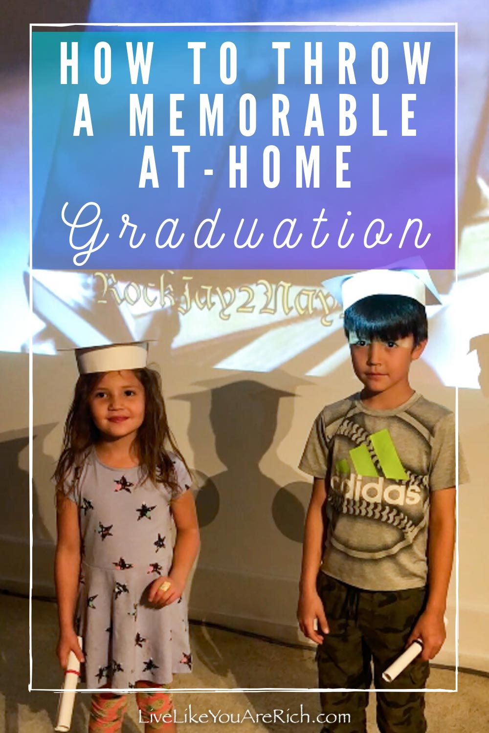 Since the stay-at-home order, I have wanted to keep the kids learning and productive. They did such a great job of completing all of their tasks each day. To celebrate their hard work and stick-to-itiveness, my husband and I put on an At-Home Graduation. #graduationparty #stayhome