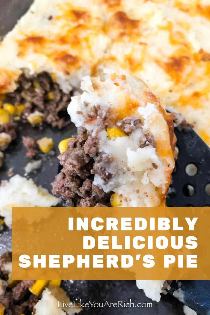 This Traditional Shepherd's Pie is typically quite bland but I have done a lot of tweaking to my recipe. Now my family and I considered shepherd's pie incredibly delicious. Do these 5 steps to incredibly delicious shepherd's pie. #pie #shepherdspie #delicious