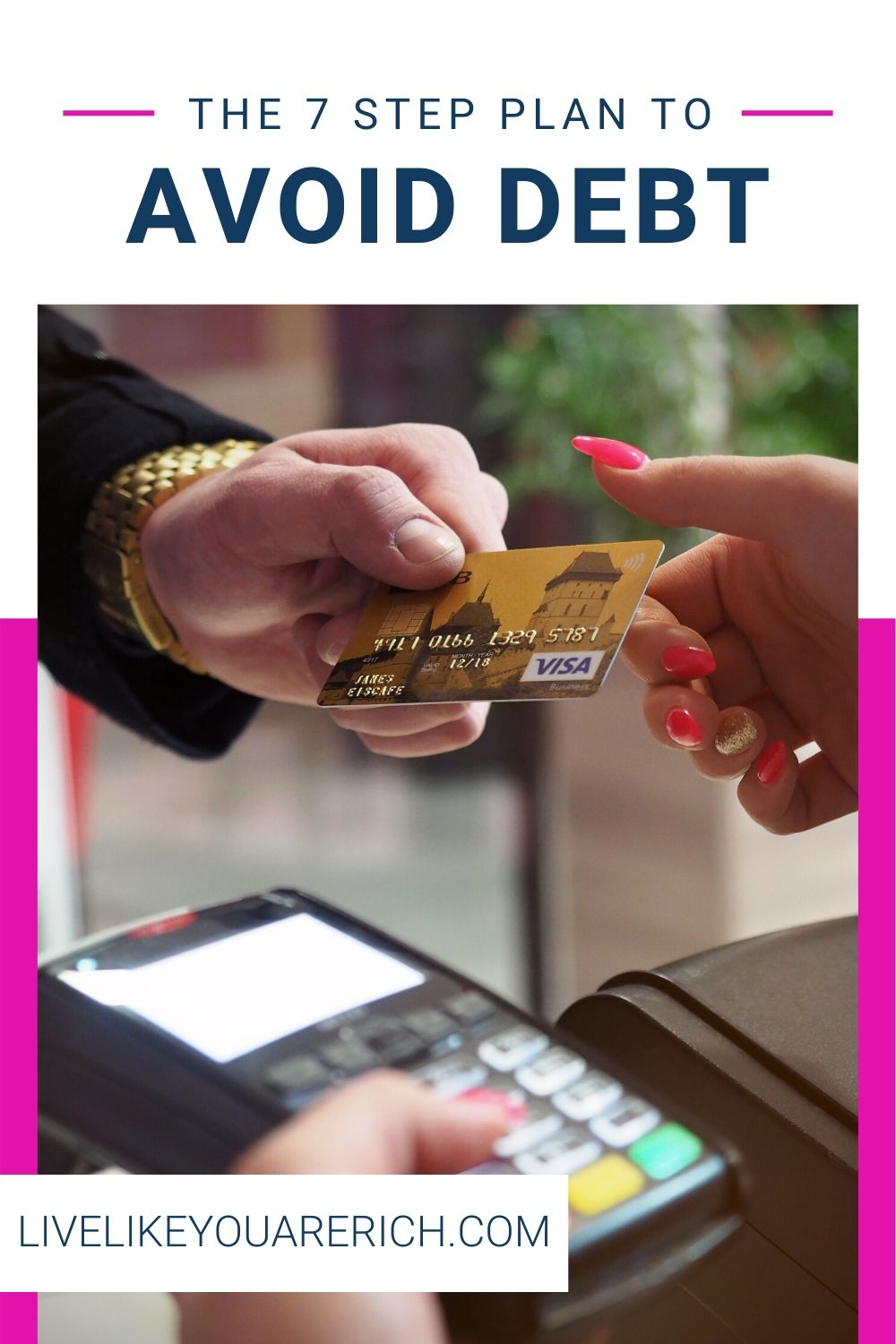 Avoid Debt. How to Avoid Debt. It is not how much you make, it is how much you keep. Here are 7 steps plan to avoid debt. #getoutofdebt #debtfree