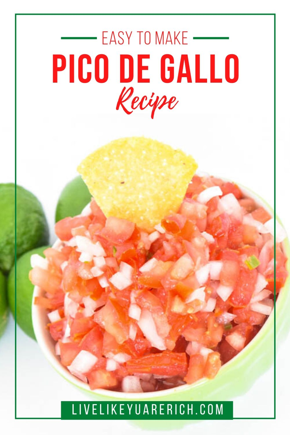 This is an easy to make yet delicious Pico de Gallo. It is likely going to be the talk of the party. I'm so excited to share it with you. I hope you enjoy it as much as I and many others have too.