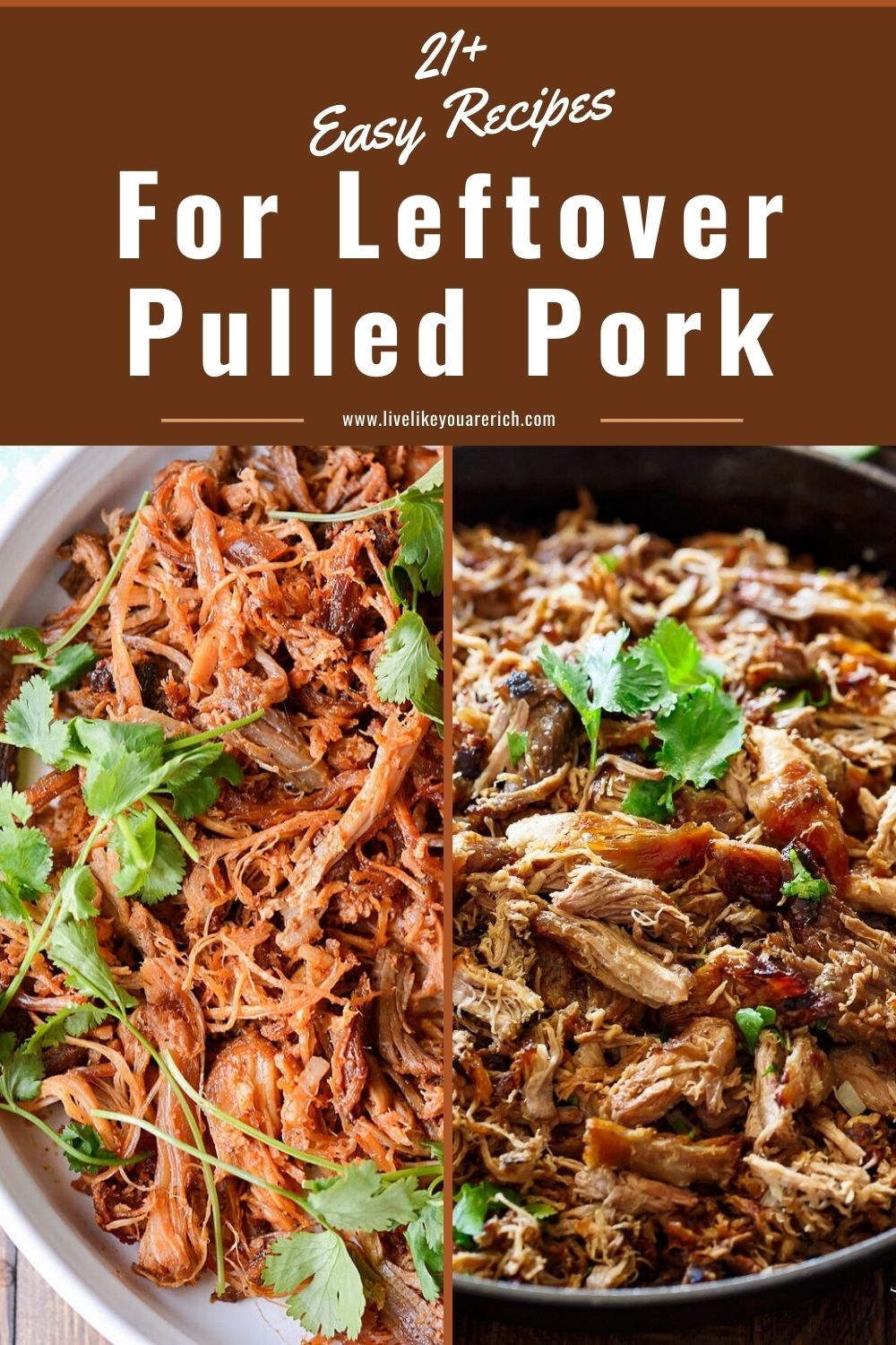 My family often has leftovers from our fall-part-tender smoked pulled pork recipe. I've rounded up 21+ delicious pulled pork recipes and decided to share them with you as well.