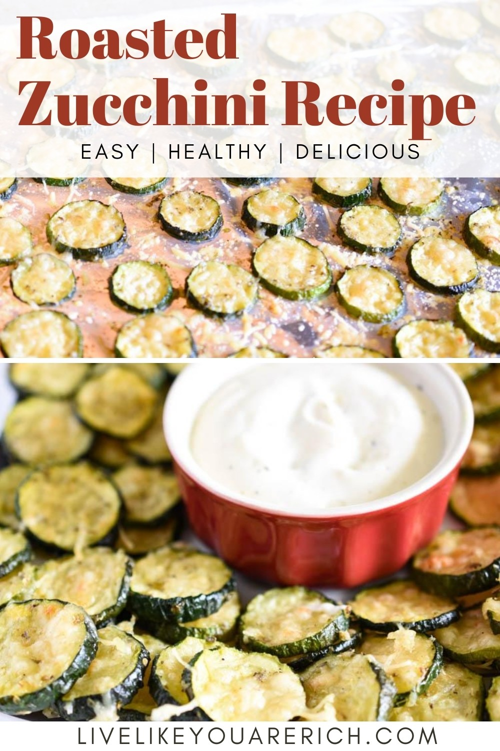 I love fresh veggies that can be seasoned, prepped, and cooked easily for dinner or snacking. Zucchini is one of those veggies. Slicing it up and tossing it in herbs, some olive oil, and then sprinkling parmesan over it makes a delicious and vitamin-rich side dish or snack! This is one of my favorite zucchini recipes. I make it quite often. My kids will even devour these—and that's saying a lot.