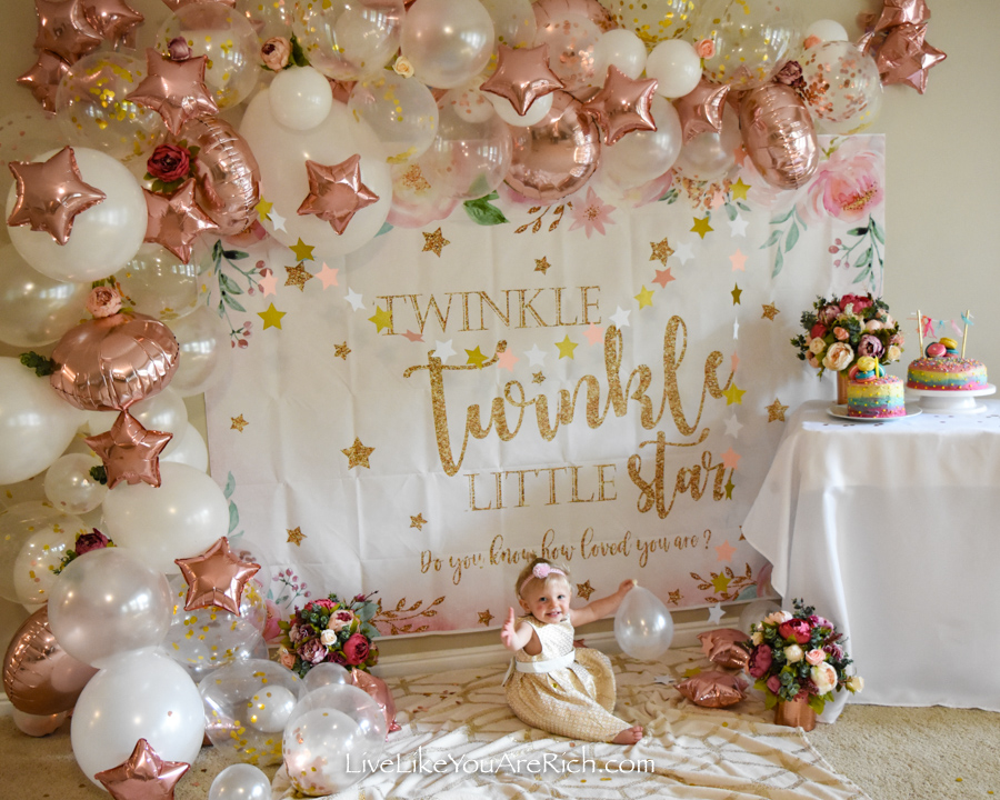 Twinkle Twinkle Little Star Party banner