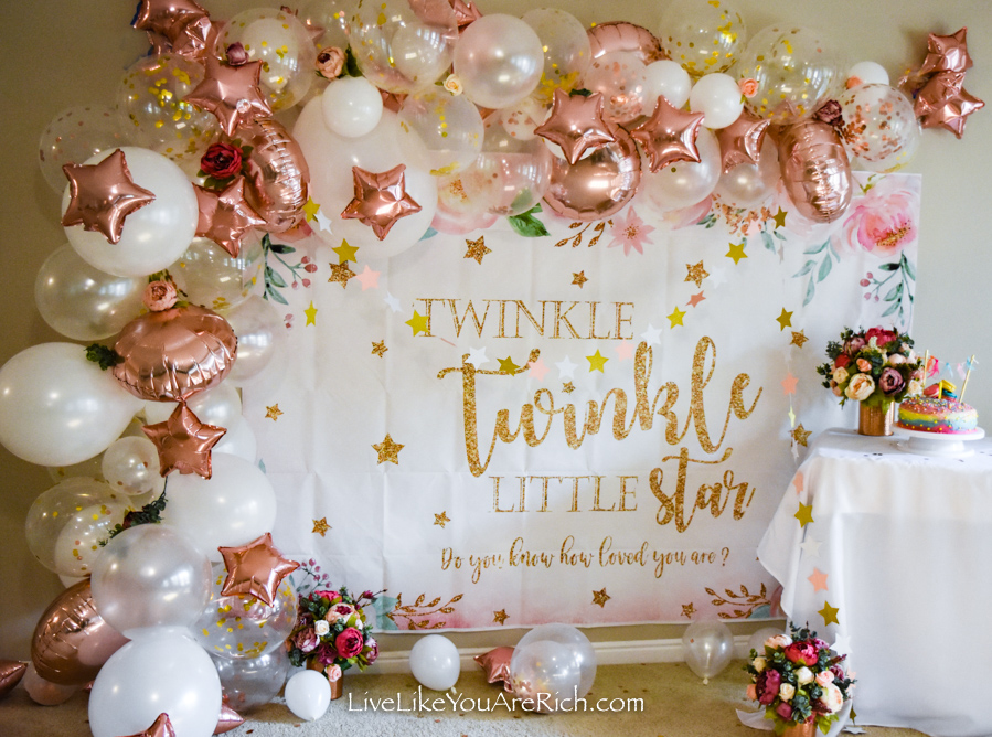 Twinkle Twinkle Little Star balloon garland