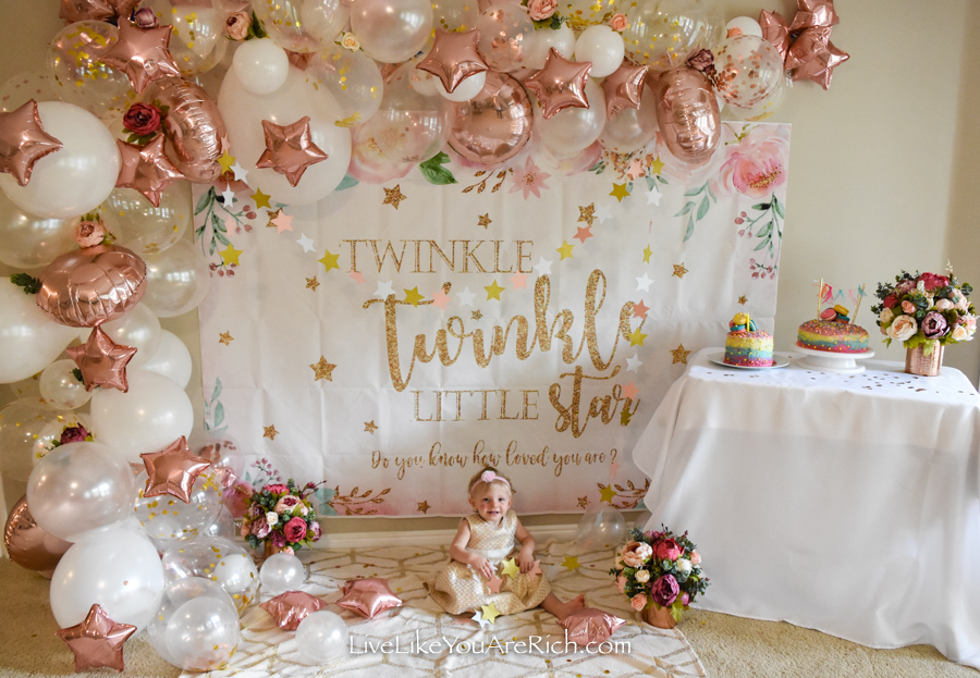 Twinkle Twinkle Little Star Party backdrop