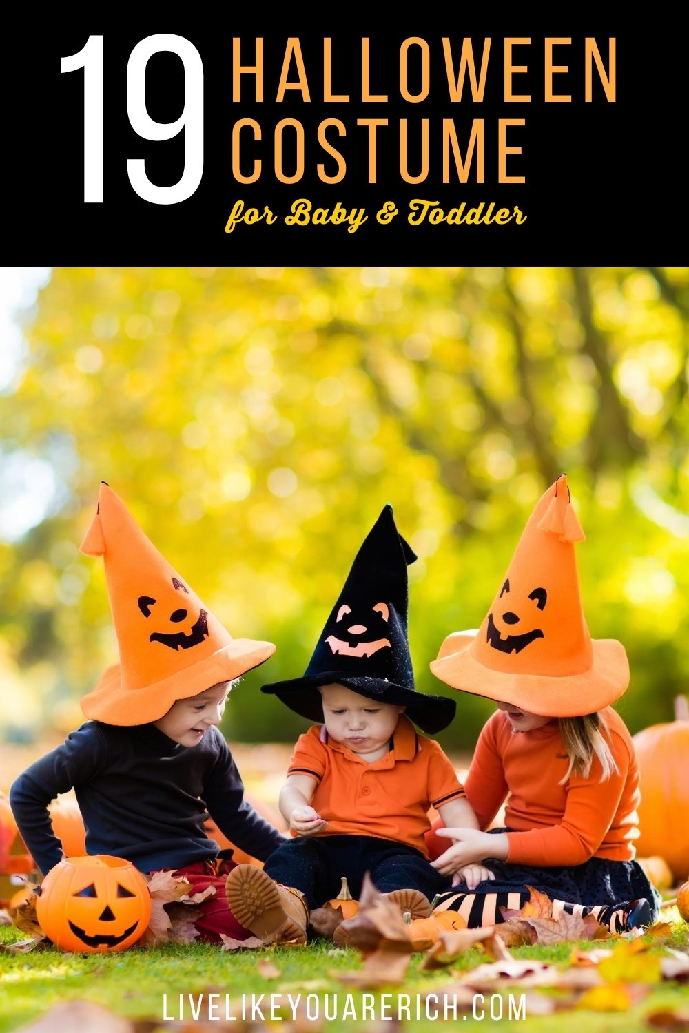 I love dressing my kids up for Halloween. It is so much fun for me. I admit I begin thinking about ideas of what they should be months before Halloween. Here are 19 super darling and inexpensive homemade baby/toddler halloween costumes - most of them are fairly quick to put together too!