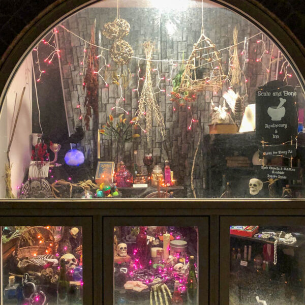 This is a beautiful Diagon Alley Window Display