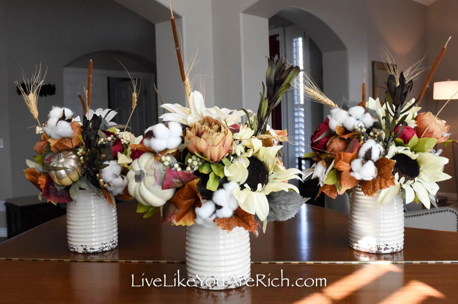 Another finished flower arrangement