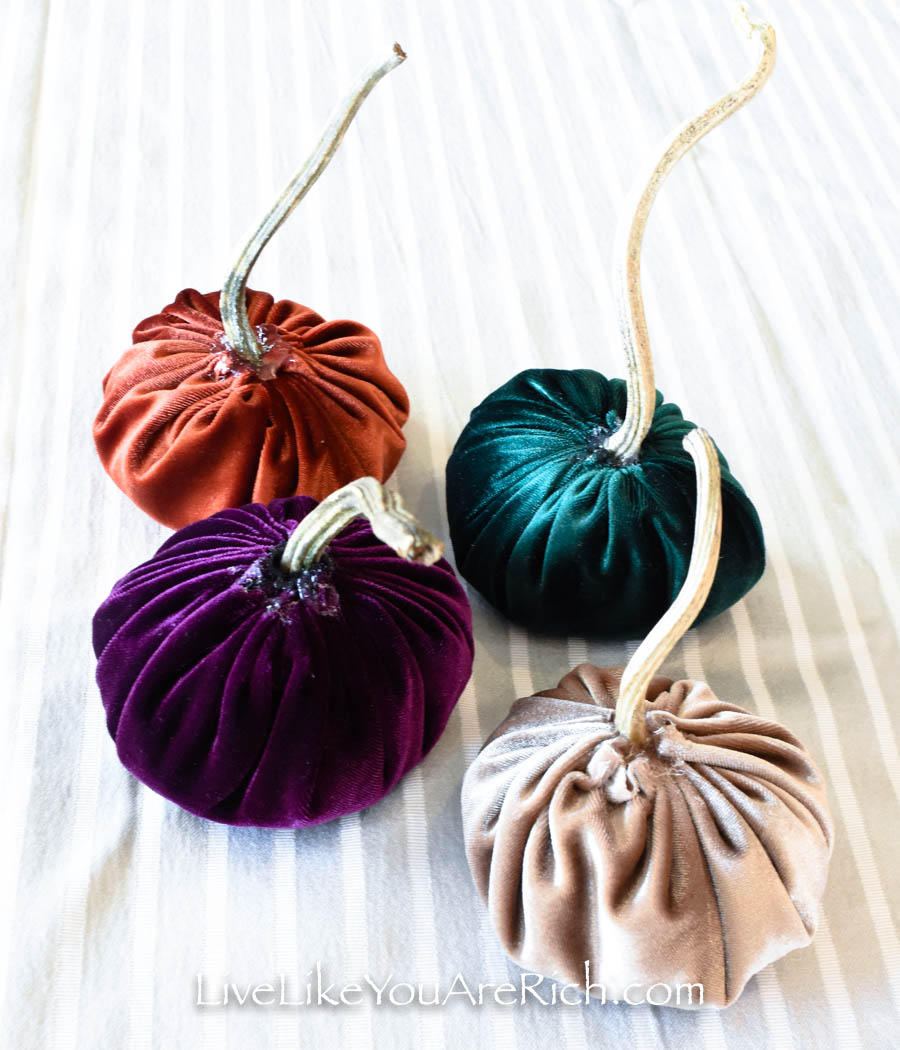 These is the finish Fall velvet pumpkins