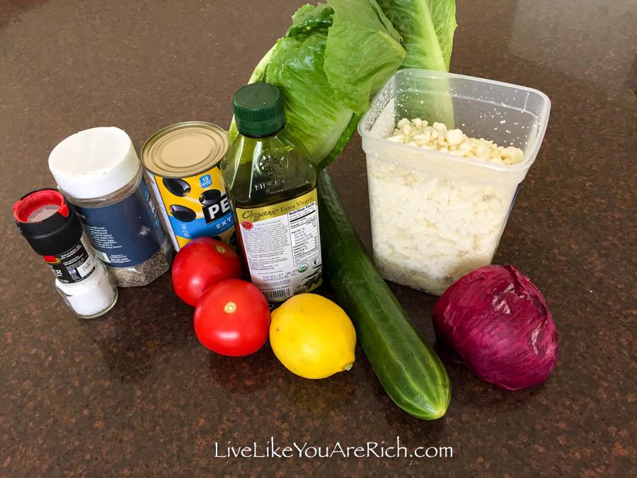 Greek Salad Recipe ingredients