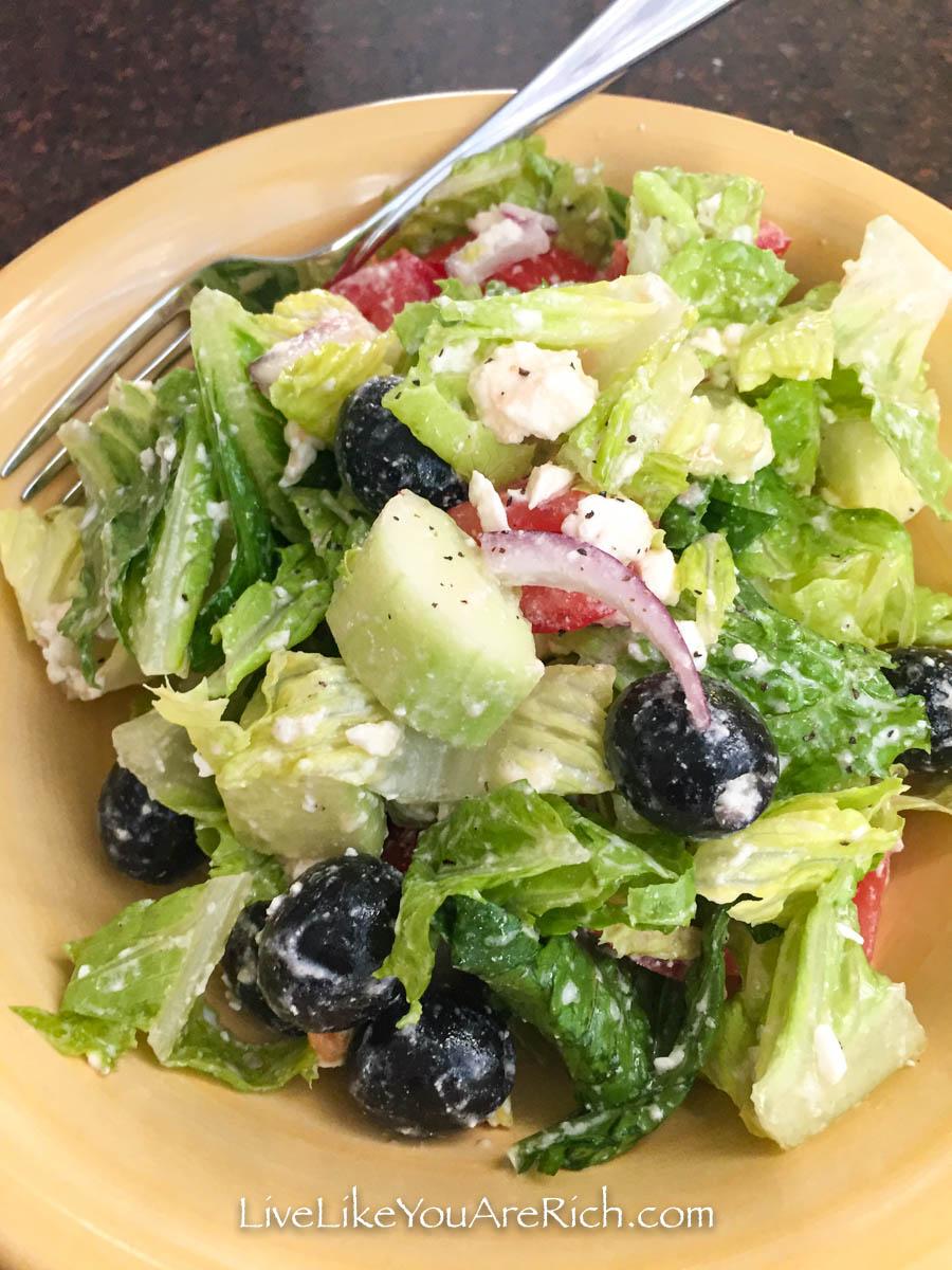 Greek Salad Recipe ready to serve