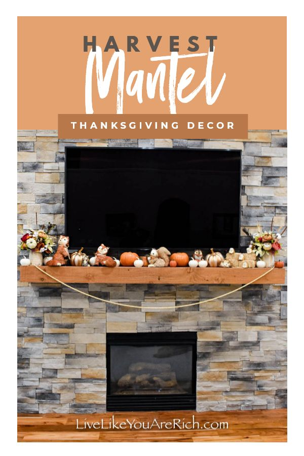 This year to decorate for Thanksgiving, I put together this harvest mantel. This mantel was just so fun to put together and my kids love the animals. I hope this helps you put together a Harvest mantel in your home as well. #harvestmantel #homedecor #thanksgiving