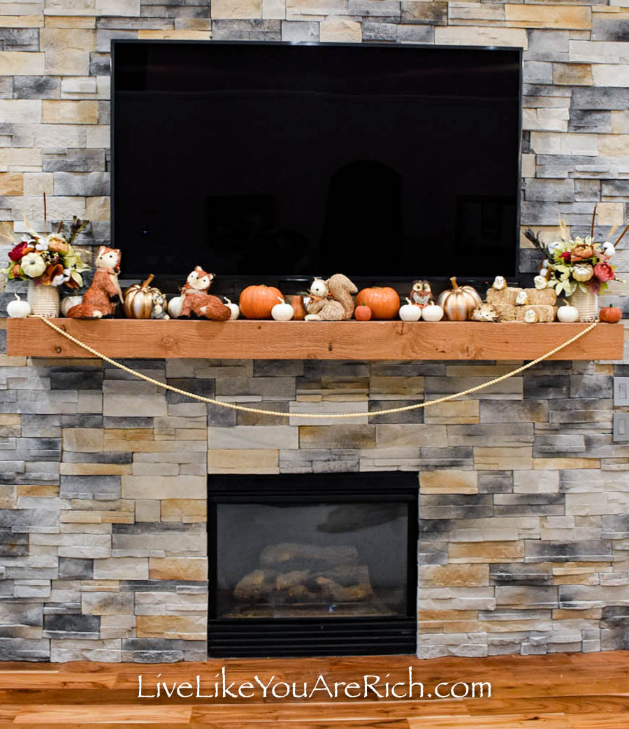 This Harvest Mantel is easy to put together.