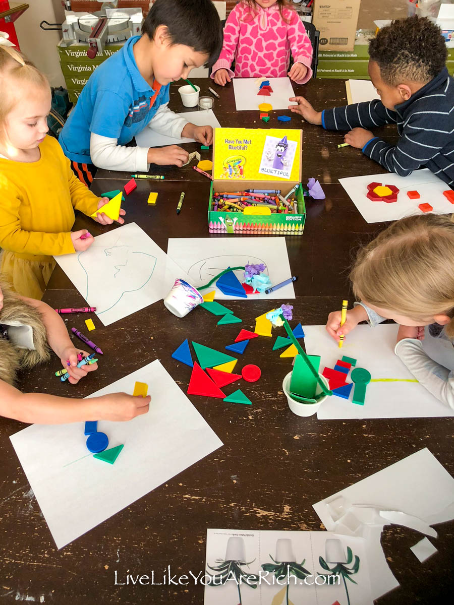 Kids doing art activity