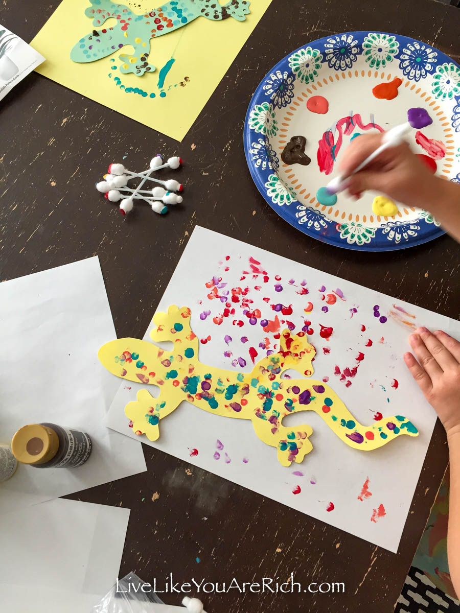 Painting art activity for kids