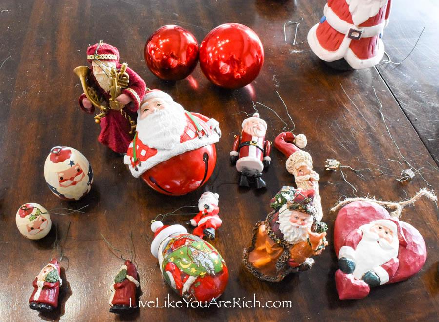 Santa Claus balls ornaments