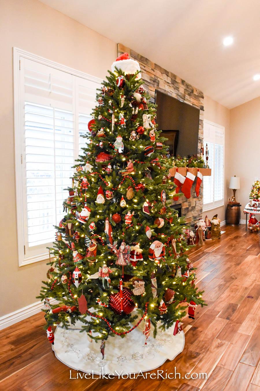 Our Santa Themed Christmas Tree