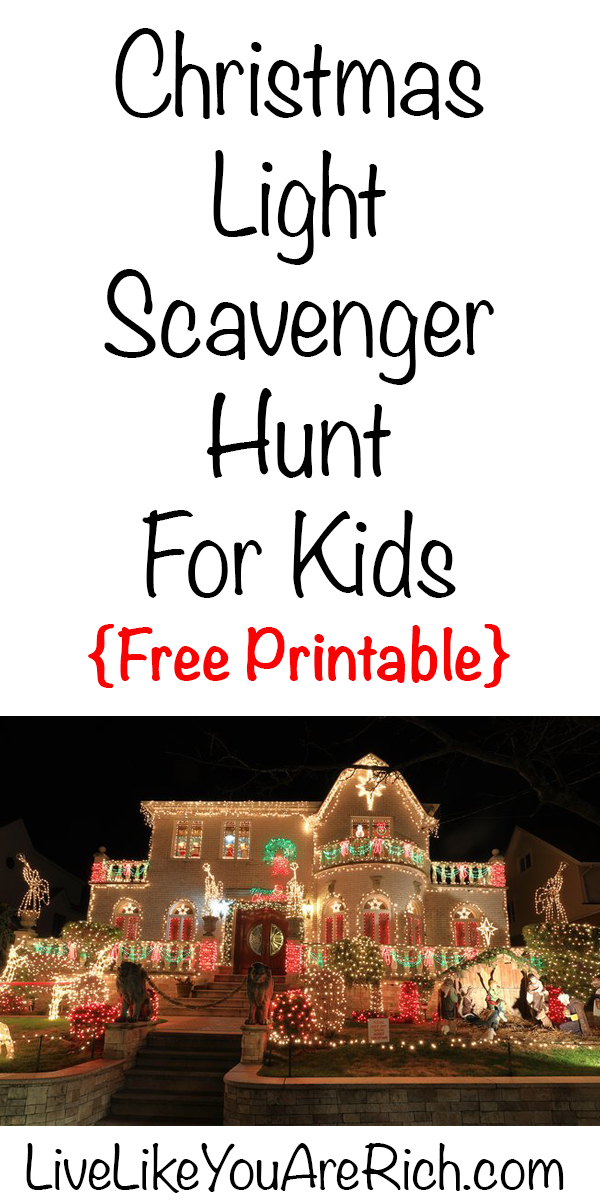 A Christmas Light Scavenger Hunt is free, entertaining, requires very few supplies; plus there is a free printable. In my church there is a committee that organizes activities for our entire congregation. Usually, we get together for an in-person Christmas dinner and celebration each year.