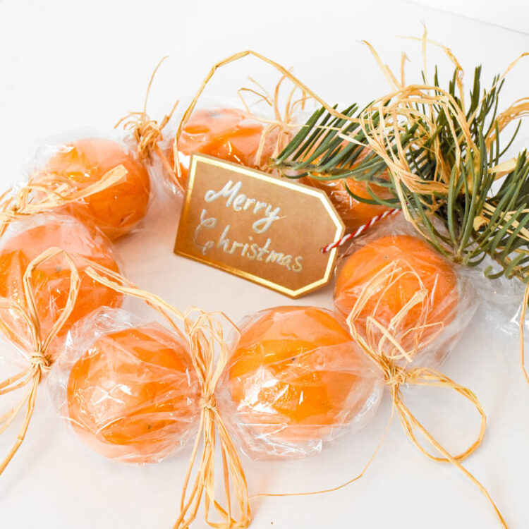 Clementine Wreath - Cellophane Wrapped