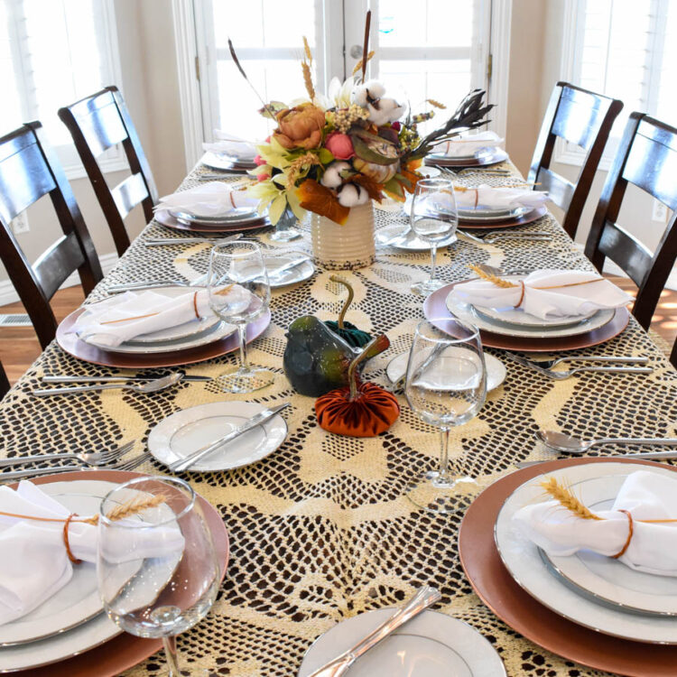 Vintage Modern Fall Tablescape