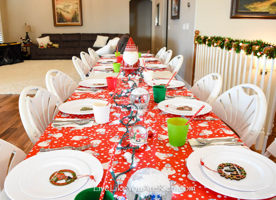 Christmas Tablescape for kids