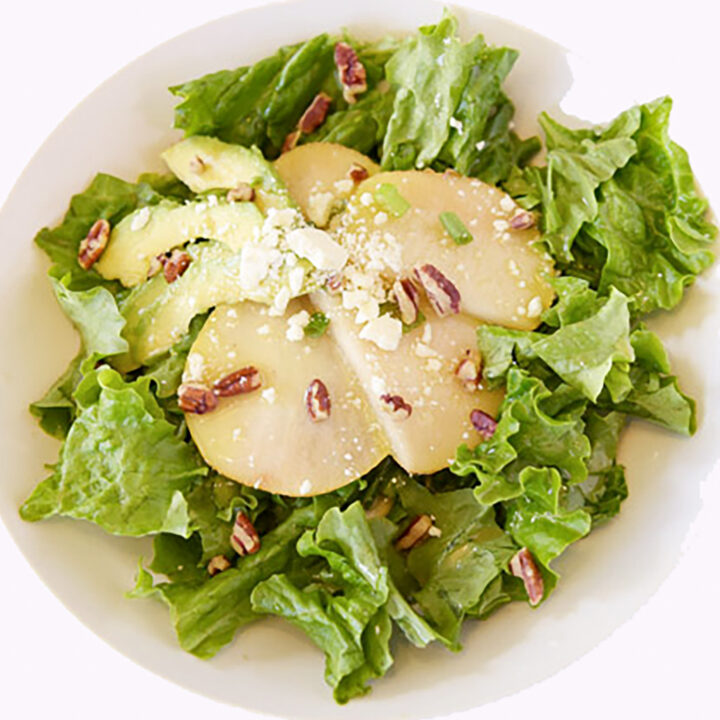 Pear Avocado Salad With Feta Cheese
