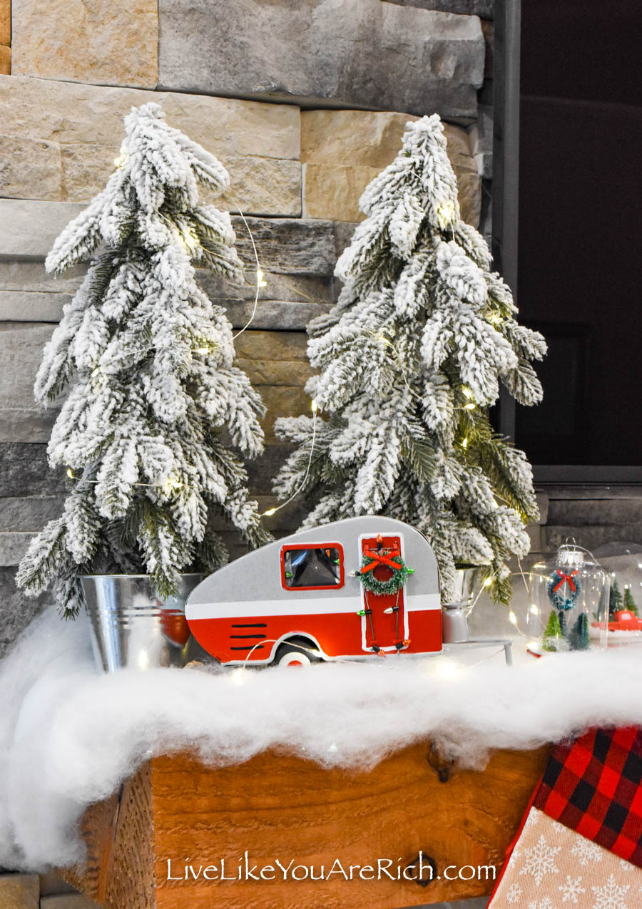 Christmas tree and a mini camper