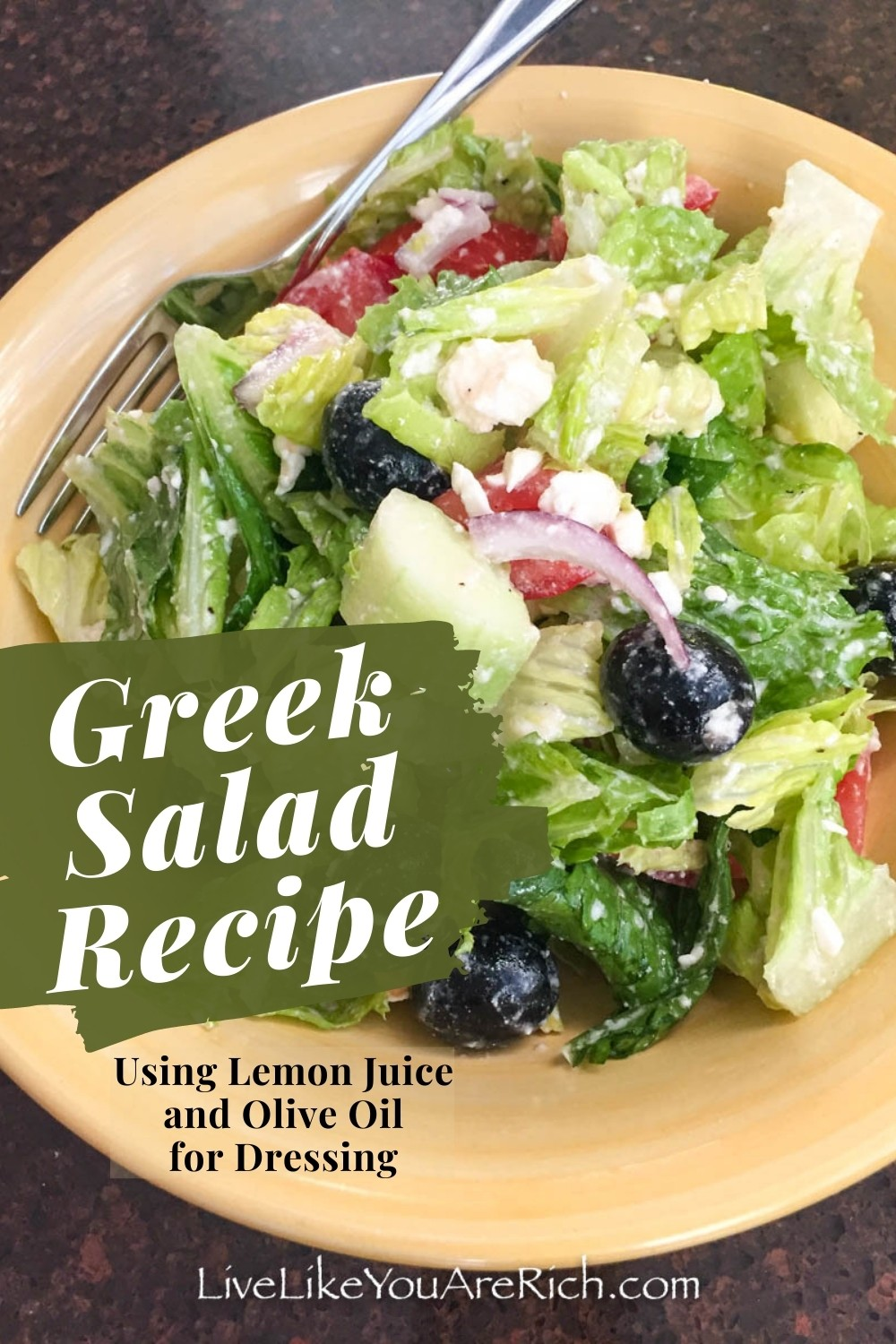 This Greek Salad Recipe using just lemon juice and olive oil for dressing is amazingly refreshing and delicious. It has got a great blend of flavors, tastes super fresh and is easy to make.