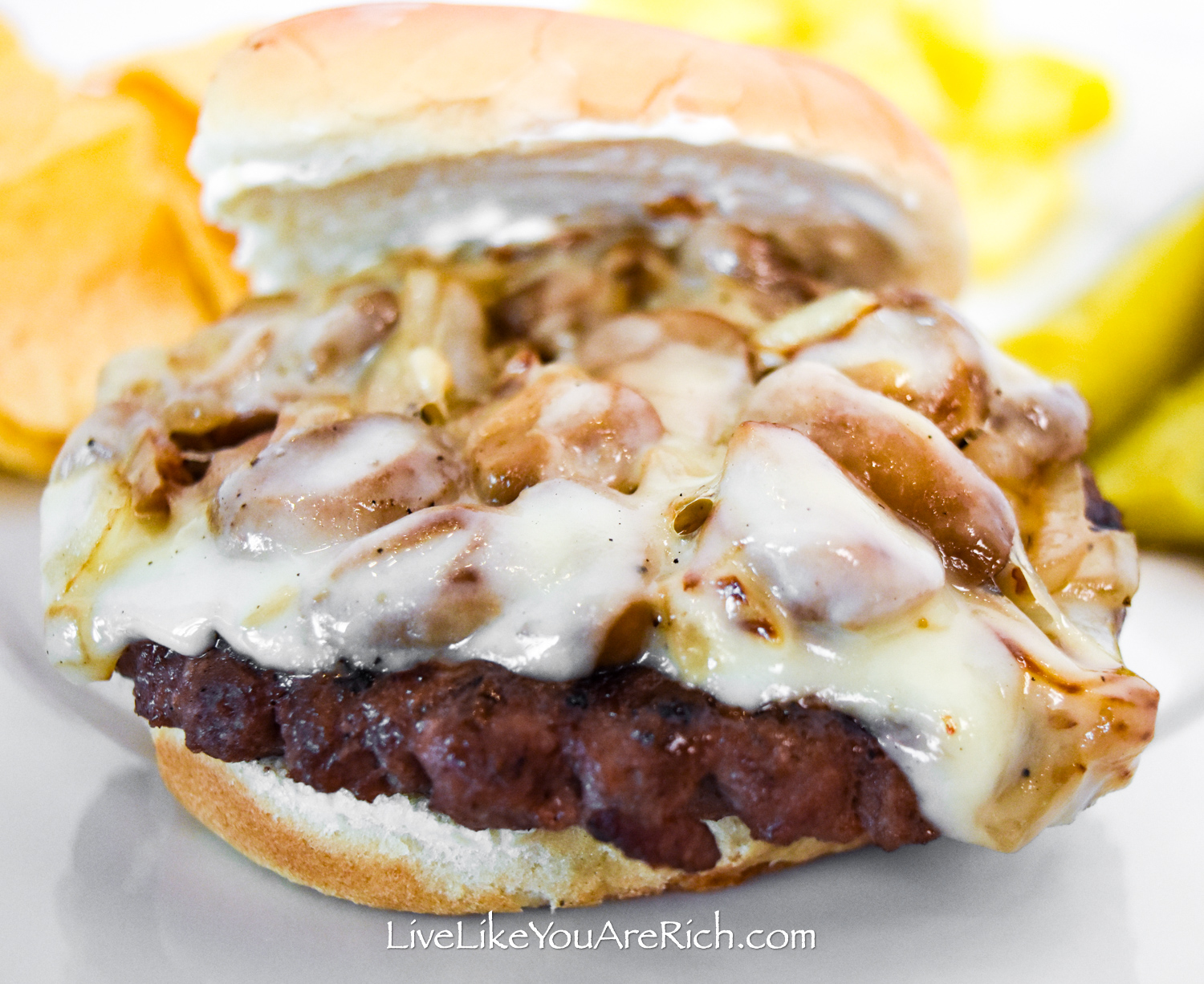 Delicious Swiss Mushroom Hamburger Recipe