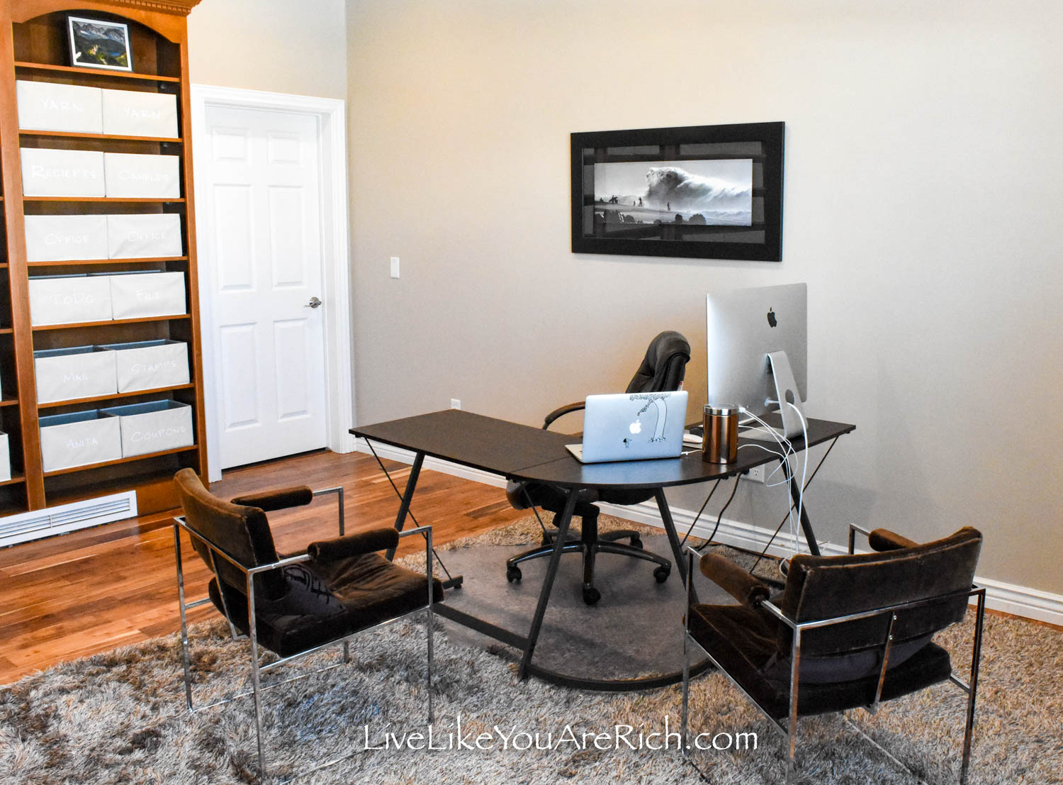 DIY office renovation after