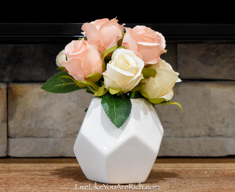Rose in a white vase