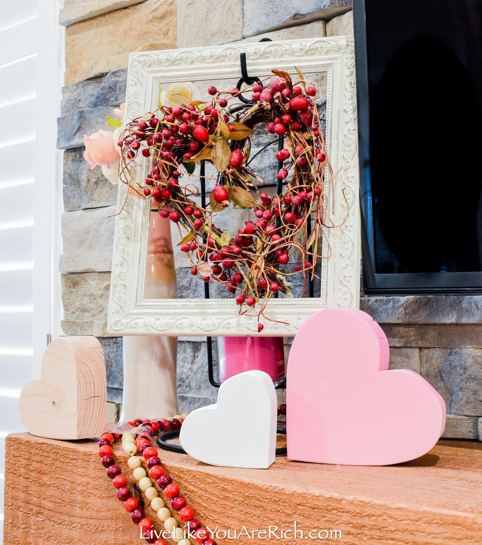 DIY Wood Block Hearts