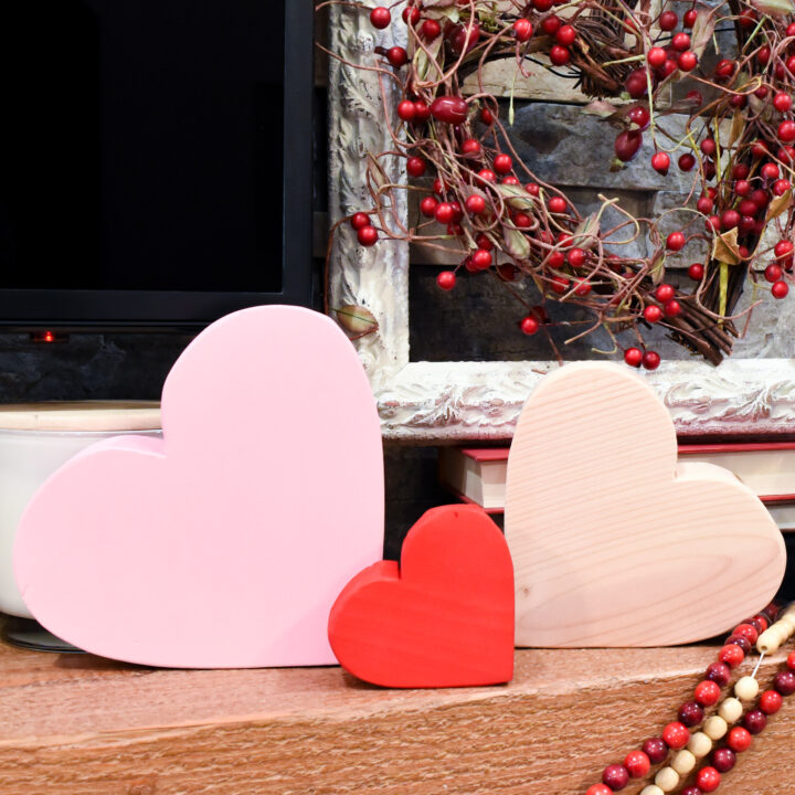 DIY Wood Block Hearts with Free Printables