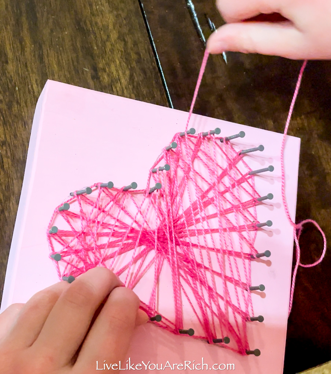 Valentine's String Heart crafts