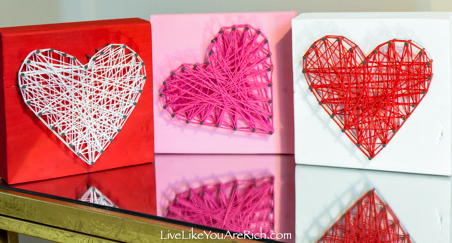 Valentine's String Heart Craft