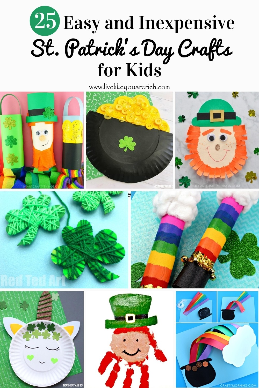 I'm always looking for easy and fun crafts I can do with my kids. Today, I've rounded up some of my favorite easy and fun St. Patrick's Day crafts for kids.