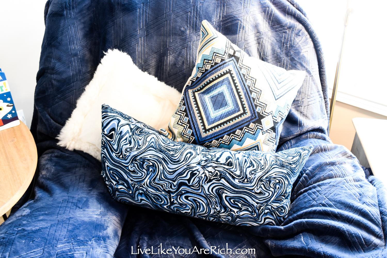 Travel Themed Boy Nursery pillows