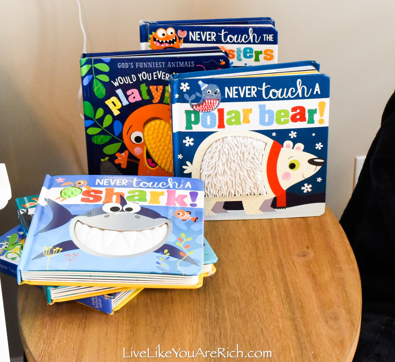 Travel Themed Boy Nursery never touch books