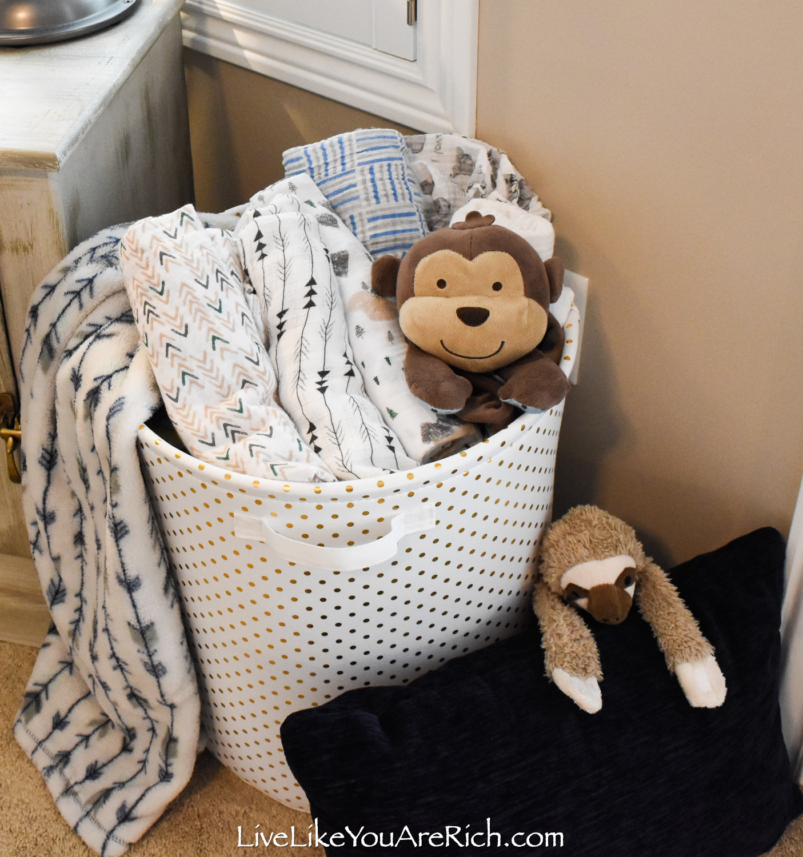 Travel Themed Boy Nursery laundry basket