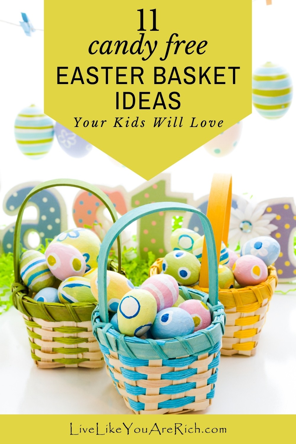 Easter is here which means it's time to start preparing those Easter baskets. I rounded up these 11 Easter Basket Ideas for Kids (Candy Free).