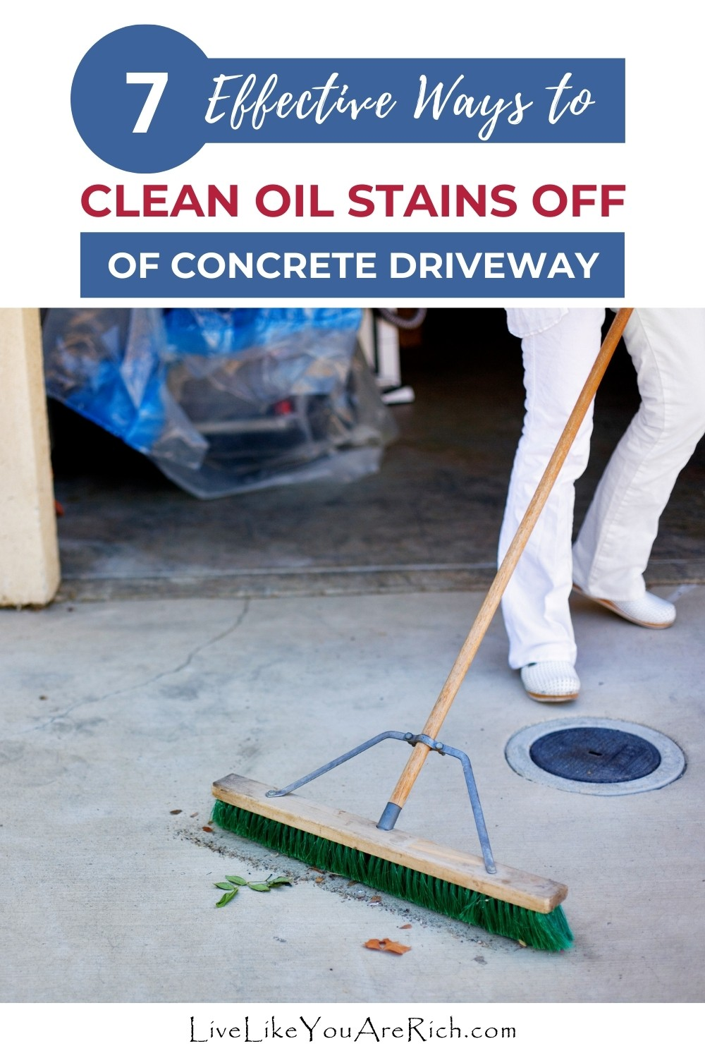 Oil stains on concrete driveways are not just unsightly - they can get tracked into your house or in your car. Removing oil stains from your concrete driveway is not just wiping a food spill on your kitchen. To effectively clean oil stains you need to adjust your ways and use greater force in combination with chemicals.