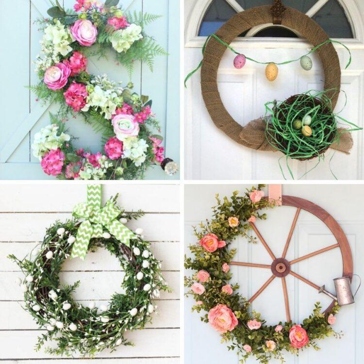 21 Easy DIY Spring Wreaths