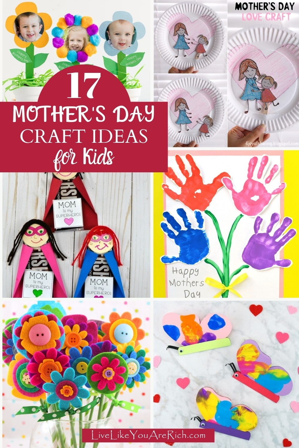 17 Mother's Day Craft Ideas for Kids