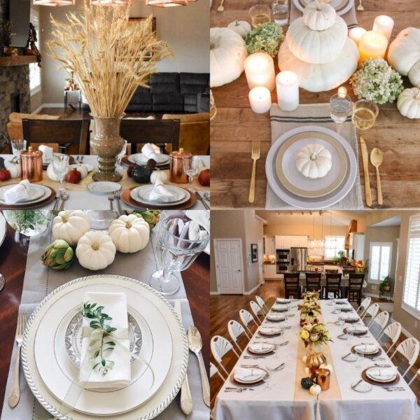 Fifteen DIY Thanksgiving Tablescape Ideas